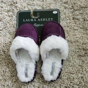 Laura Ashley Womens Violet/White Slippers
